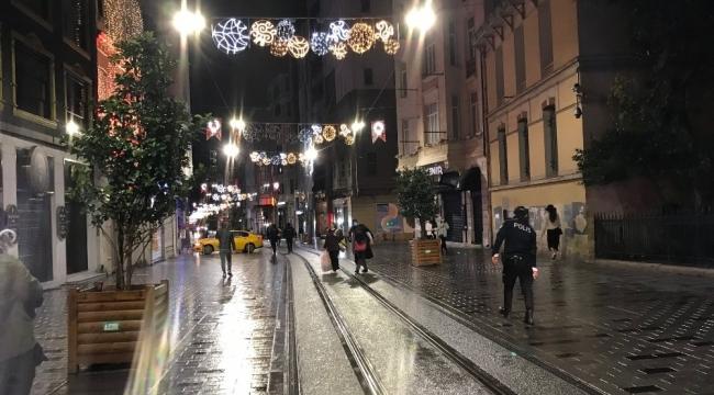 İstiklal Caddesi'nde korona virüs sessizliği