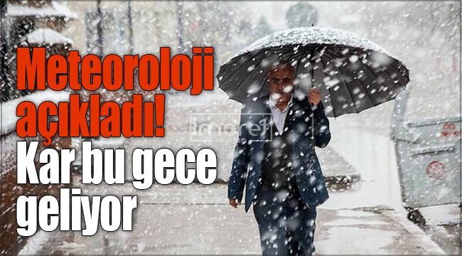Meteoroloji uyardı ! Karaman için kar yağışı uyarısı