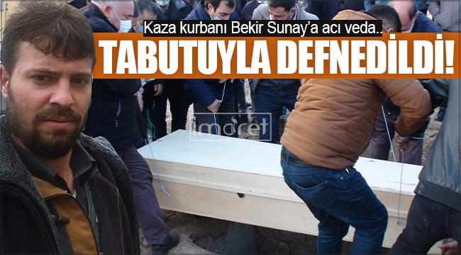 Devrilerek bariyerlere saplanan tırın sürücüsü Karaman'da toprağa verildi