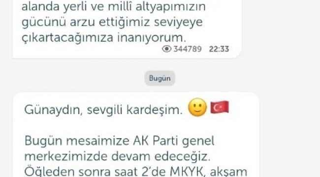 """Cumhurbaşkanı Recep Tayyip Erdoğan, Telegram ve Bip üzerinden, """"Ben de aşı oldum"""" paylaşımı yaptı."""