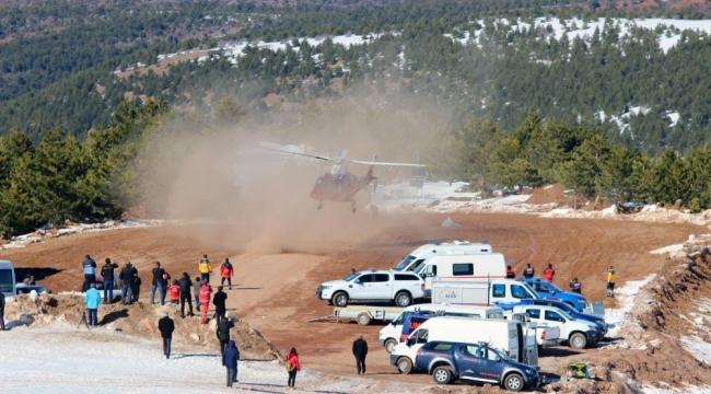 Helikopter ambulanstan 10 yılda 2 bin 500 acil uçuş