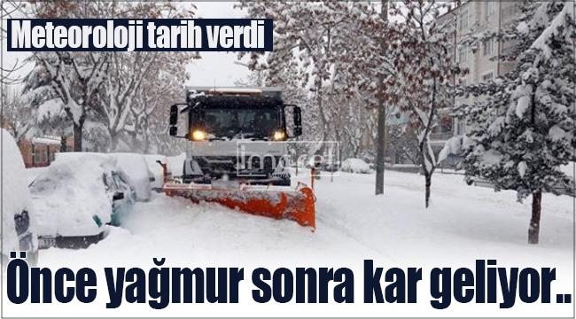 Karaman'a önce yağmur sonra kar geliyor