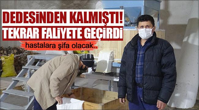 Karaman'da dededen kalma değirmen tekrar faaliyete geçti