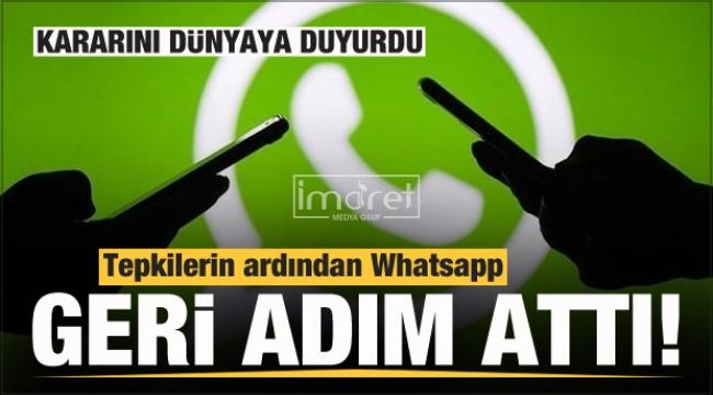Tepkilerin ardından Whatsapp'tan son dakika kararı!
