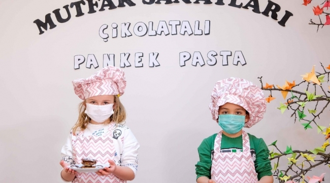 Altındağ'ın minik aşçıları yeni döneme kendi pastalarını yaparak girdiler