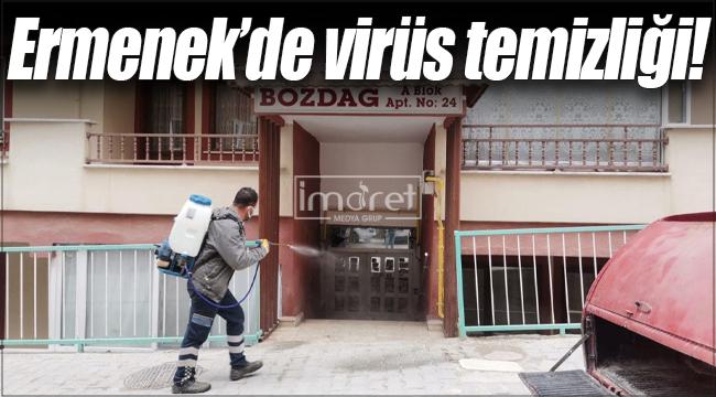 Ermenek'de virüsle mücadele devam ediyor