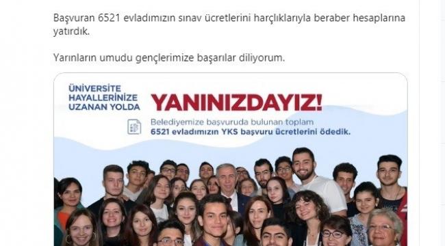 Ankara Büyükşehir Belediyesi YKS ödemesi desteği sözünü tuttu