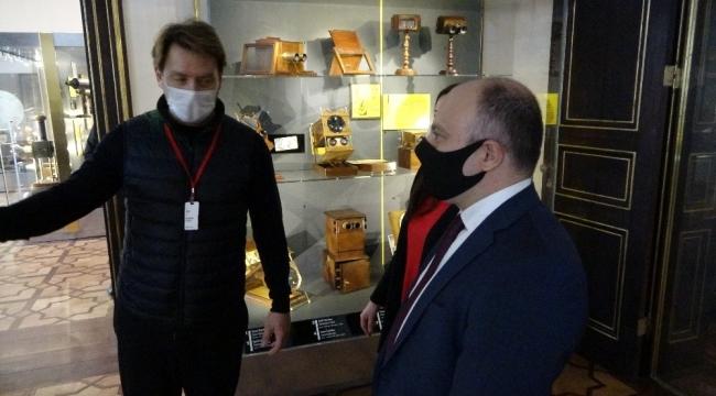 Azerbaycan Kültür Bakanı Kerimov'dan Atlas Sineması'na ziyaret