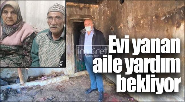 Karaman'da evi yanan aile yardım bekliyor