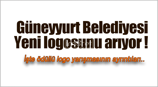 Güneyyurt Belediyesi'nden ödüllü logo yarışması