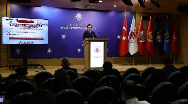 """MSB: """"2021 yılı Ocak ayından itibaren 21'i büyük, 62'si orta çaplı olmak üzere toplam 83 operasyon icra edilerek 143 terörist etkisiz hale getirilmiştir"""""""