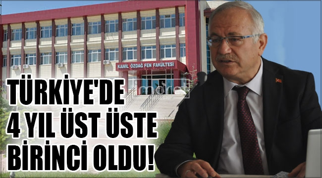 Kamil Özdağ Fen Fakültesi Türkiye'de 4 yıl üst üste birinci oldu