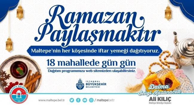 Maltepe Belediyesi'nden 60 bin kişiye ücretsiz iftar yemeği