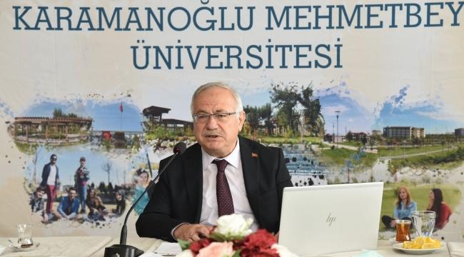 Rektör Ak, KMÜ'nün gelecek dönemine ilişkin projeleri anlattı