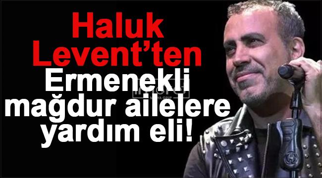 Ünlü Şarkıcı Haluk Levent'ten Ermenek'e yardım eli