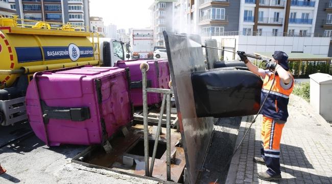 Başakşehir'de Covid-19'a karşı köşe bucak temizlik
