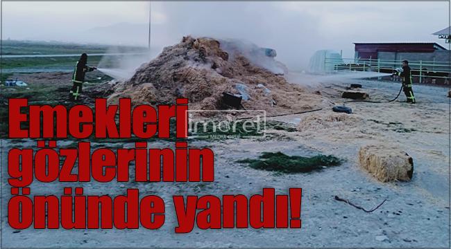 Karaman'da 700 adet saman balyası yangında kül oldu