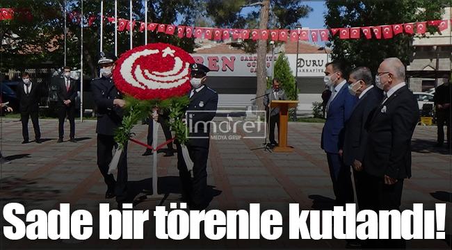Karaman'da 744. Türk Dil Bayramı sade bir törenle kutlandı