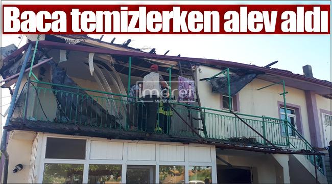 Karaman'da baca temizliği sırasında yangın çıktı