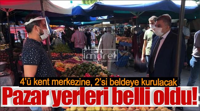 Karaman'da kurulacak semt pazarı yerleri belli oldu