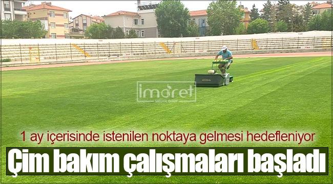 Kemal Kaynaş Stadyumu'nda çim bakım çalışmaları başladı