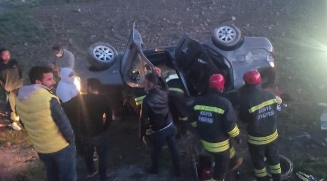 Kontrolden çıkan otomobil şarampole yuvarlandı: 3 yaralı