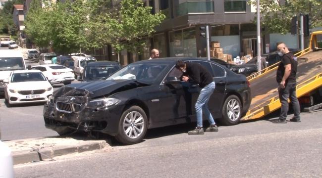 Sancaktepe'de lüks aracın aşırı hız dehşeti: 1 yaralı