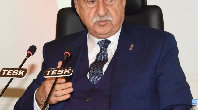 """TESK Genel Başkanı Palandöken: """"Esnaf ve sanatkârların umudu önümüzdeki bayrama kaldı"""""""