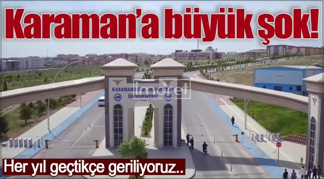 """""""Üniversite Dostu Şehirler"""" Sıralamasında Karaman'a Büyük Şok!"""