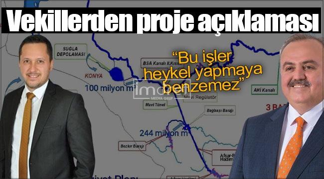 """Ak Parti vekillerinden proje açıklaması: """"Bu işler heykel yapmaya benzemez"""""""