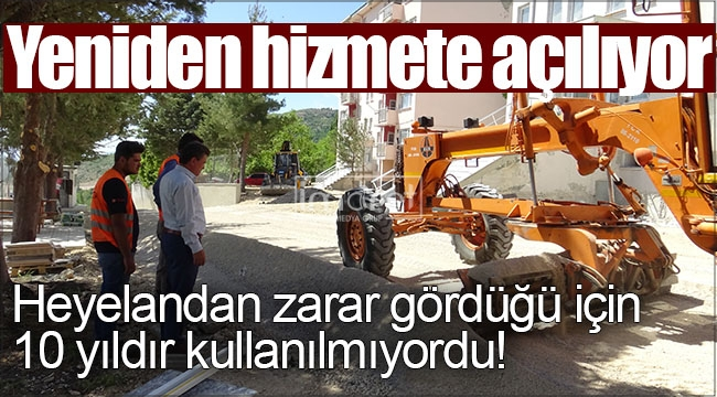 Heyelandan zarar gören jandarma binası yeniden hizmete açılıyor