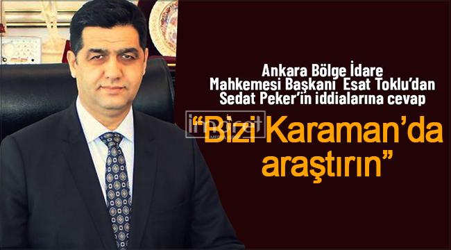 Sedat Peker'in iddialarına Karamanlı Esat Toklu'dan yanıt geldi