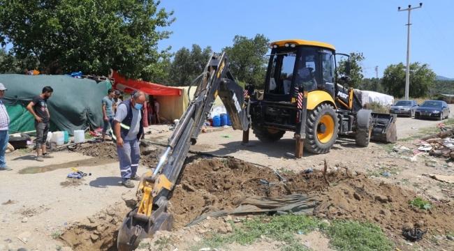 Burhaniye Belediyesi Düdüklü kaçağına el attı