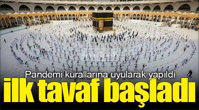 Kabe'de Hacı adaylarının ilk tavafı başladı