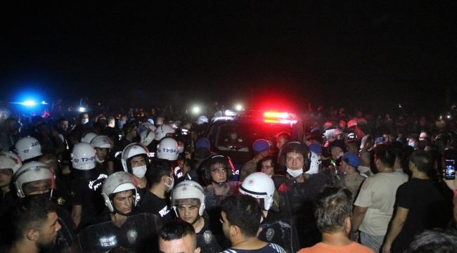 Yangın çıkarma iddiası mahalleyi ayaklandırdı