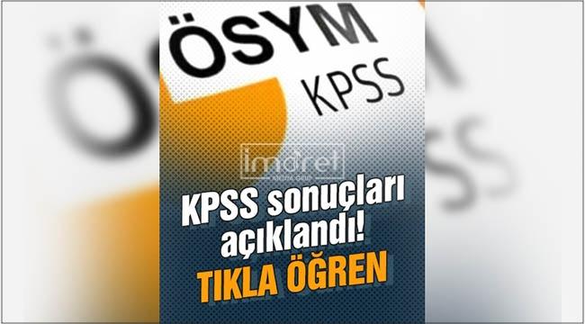 2021 KPSS sonuçları açıklandı