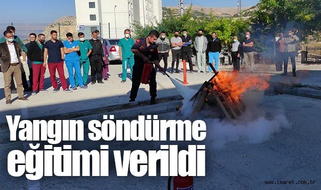 Hastane personeline yangın söndürme eğitimi verildi