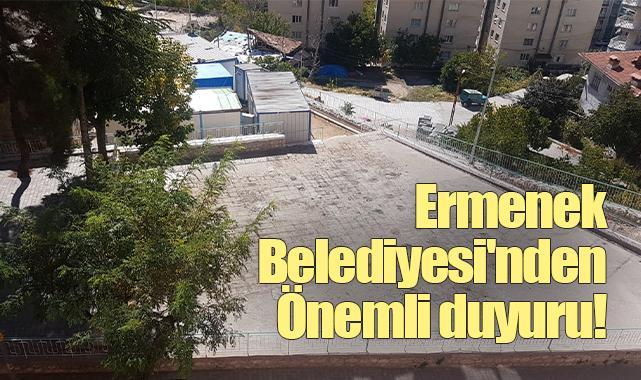 Ermenek Belediyesi'nden önemli duyuru!