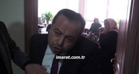 İl başkan adayı gazetecinin sorusunu tepki gösterdi kamerayı indirdi