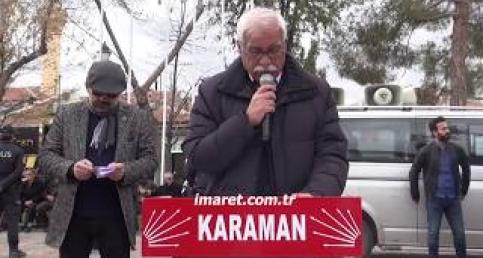 Karaman'da Kılıçtaroğlu'na yapılan saldırı protesto edildi